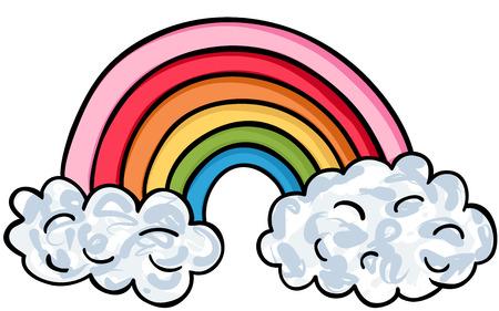 Shaped Rainbow Icon Illustration
