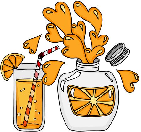 Juicy Orange Refreshment Vetores