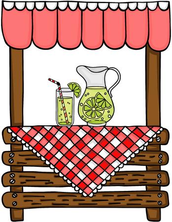 Wooden lemonade stand.