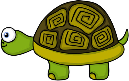 Cute turtle smiling Illustration