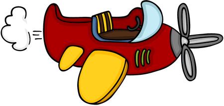 Petit avion mignon Banque d'images - 86959729