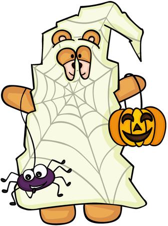 night dress: Halloween teddy bear trick or treat