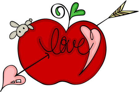 Love red apple of cupid