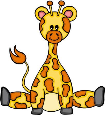 cute giraffe sitting Иллюстрация
