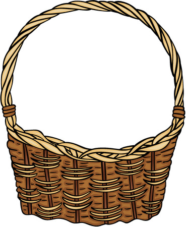 Wicker basket empty Фото со стока - 95041636