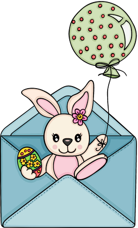 Easter bunny going out envelope