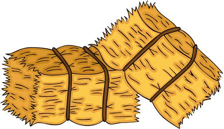 Bales of hay vector illustration