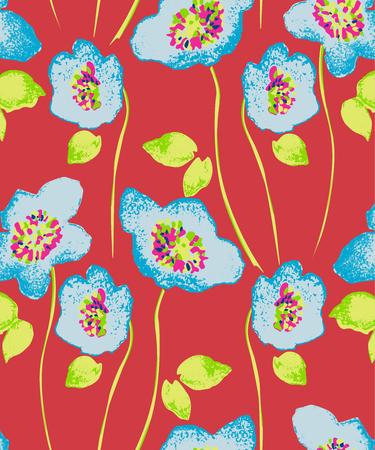 Seamless flower background Ilustrace