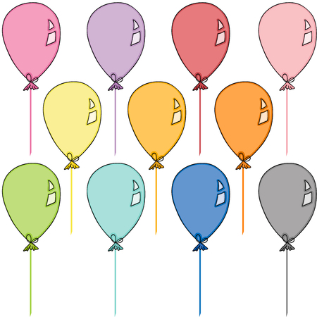 Colored balloons set