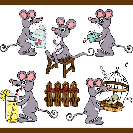 Mouse set digital elements