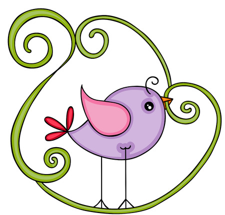 Cute purple bird Zdjęcie Seryjne - 105208699