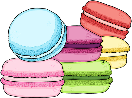 Pile of colorful macaron Illustration