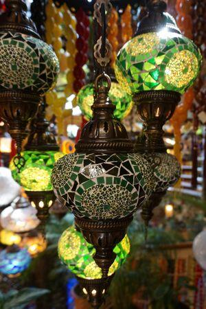 Turkish mosaic lamp oriental traditional light Stock fotó