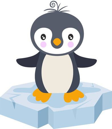 Cute baby penguin on a ice floe
