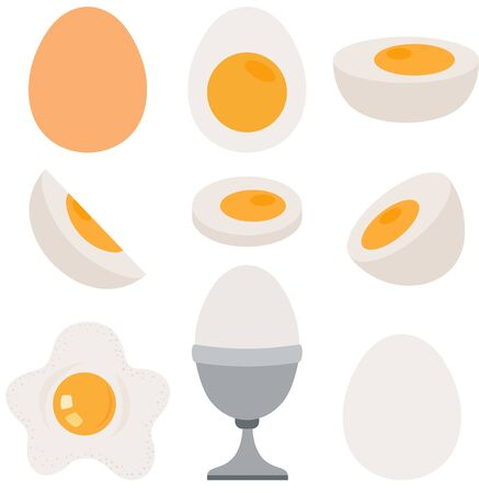 Set digital elements with eggs collection Stock Illustratie