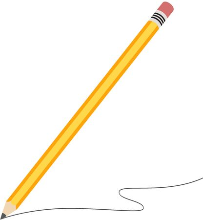 Pencil scratching on white background