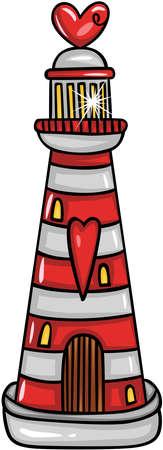 Valentine lighthouse searchlight tower Иллюстрация