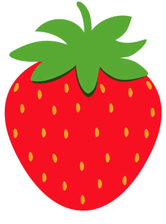 Red strawberry fruit icon isolated Иллюстрация