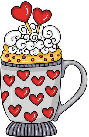 Sweet cup for valentine day