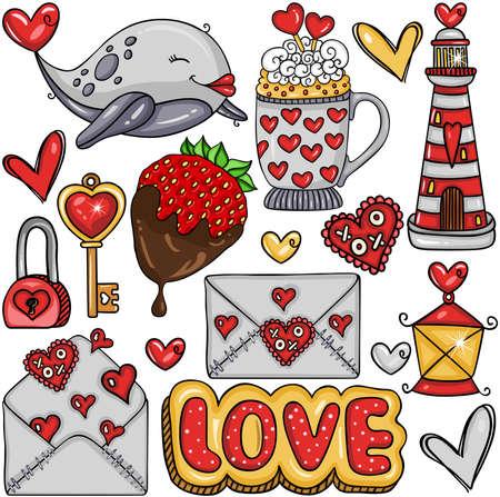 Love package with digital elements Иллюстрация