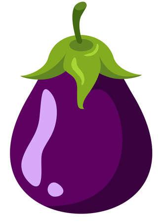 Small fresh purple eggplant whol