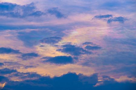 atmospheric phenomena: Beautiful iridescent cloud, Irisation