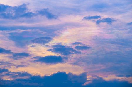 Beautiful iridescent cloud, Irisation