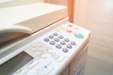 Digital laser copier desktop multifunction close up 版權商用圖片