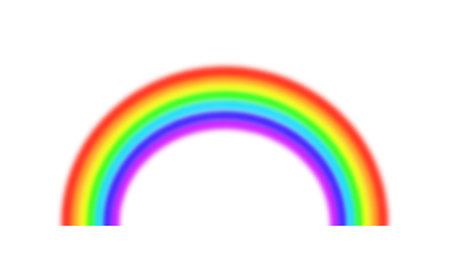 Rainbow design illustration material