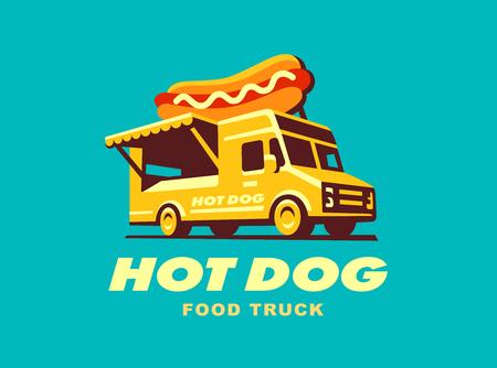 Street Food Truck concept illustratie ontwerp