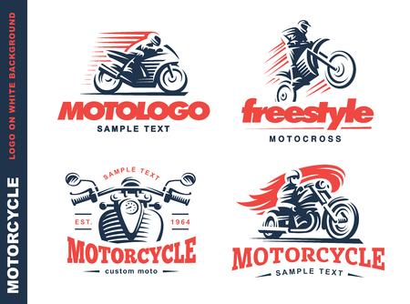 Motorcycle Shield embleem ontwerp op een witte achtergrond.
