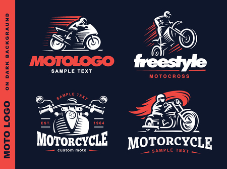 Motorcycle Shield emblem design on dark background