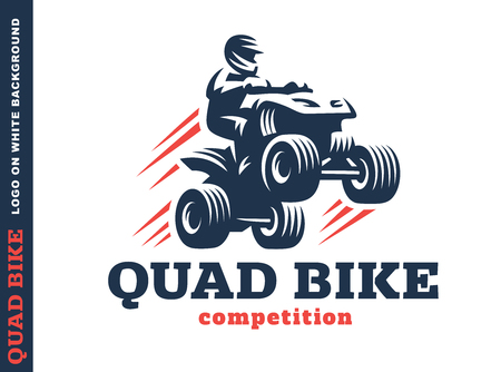 Quad bike competition.  design on a white background Vectores
