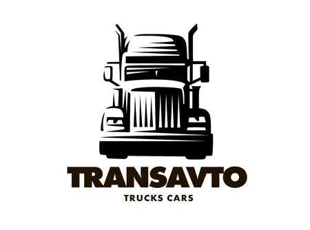 illustratie truck, vooraanzicht, witte achtergrond