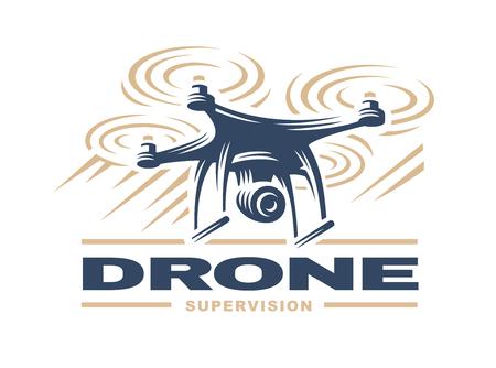 Drone quadrocopter Иллюстрация