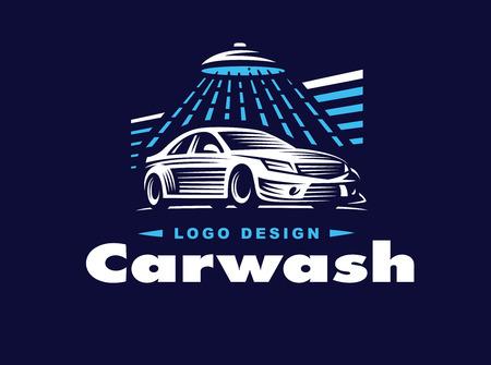 design car wash on dark background.