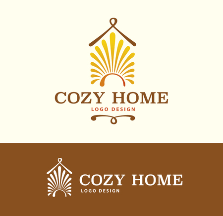 cozy: Logo Cozy Home on light and dark background