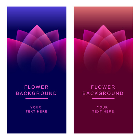 Vector abstract flower background. Two vertical banner