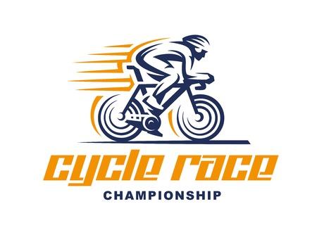 Cycling race Vector illustration, emblem design