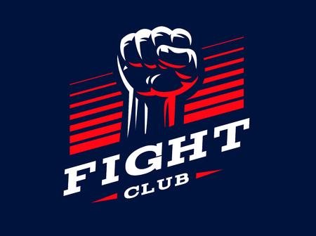 Fist emblem design illustration on dark background