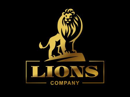 Lion logo - vector illustratie, embleem ontwerp Stockfoto