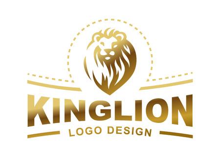 Lion head logo - vector illustratie, embleem ontwerp