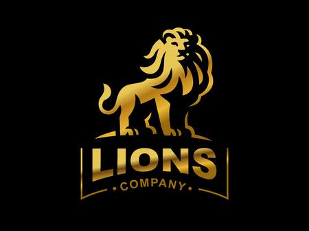 Lion logo - vector illustration, emblem design
