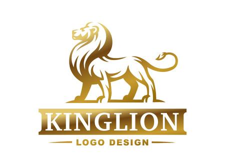 Lion-embleem - vectorillustratie, embleemontwerp op witte achtergrond