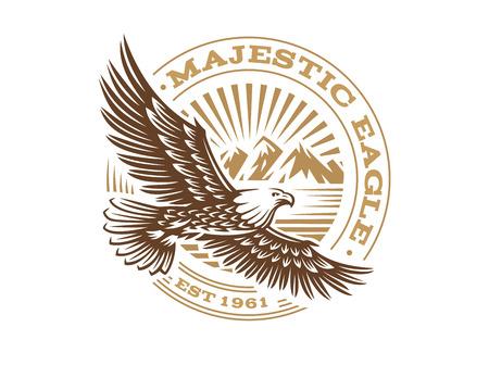Eagle logo - vector illustration, emblem on white background Vettoriali