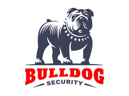 Logo Bulldog - ilustracji wektorowych, godło Logo