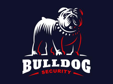 Bulldog logo - vector illustratie, embleem Stock Illustratie
