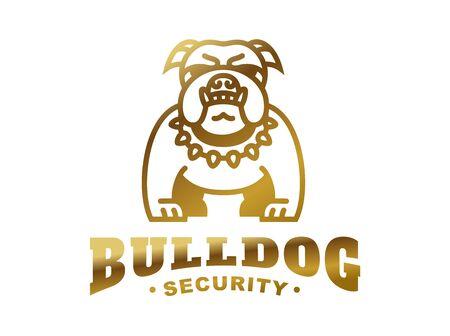 logotipo del dogo - ilustración vectorial, emblema de oro Logos