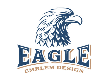 eagle: Eagle head logo - vector illustration on white background Illustration