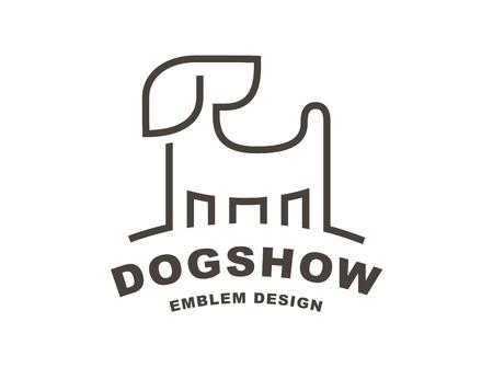 Dog head logo - vector illustration, emblem on white background Stock Vector - 70032854